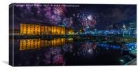 Albert Dock Fireworks, Canvas Print
