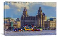 The Dazzling Mersey Ferry, Canvas Print