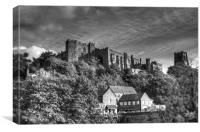 Durham Castle monochrome HDR, Canvas Print