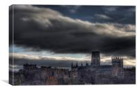 Durham Cathedral Colour HDR, Canvas Print