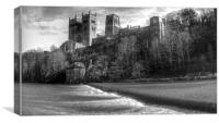 Durham Cathedral and mill, Canvas Print
