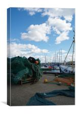 Boats and Nets, Canvas Print
