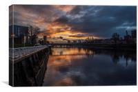 River Clyde Sunrise, Canvas Print