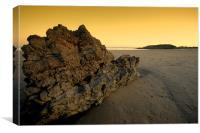 Rock on the beach, Canvas Print