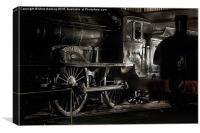 The last classD49, Morayshire, in the roundhouse , Canvas Print