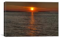 Puffin Island Sunset, Canvas Print