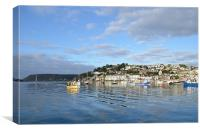 Salcombe from the river, Canvas Print