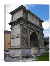 Arch of Trajan in Benevento, Canvas Print