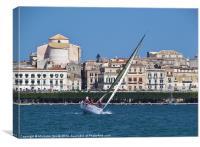 Sailing at Siracusa, Canvas Print