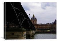 Bridge over the River Seine, Canvas Print