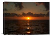 Sunrise at sea, Canvas Print