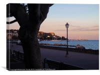 Milazzo in Sicily at dusk, Canvas Print
