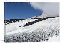 Cloud Sweeping Over Etna, Canvas Print