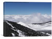 Above The Clouds On Etna, Canvas Print
