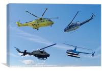 Four Helicopters, Canvas Print