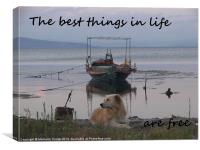 The best things in life, Canvas Print