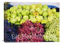 Love Yourself Eat Healthily, Canvas Print