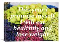 Eat Healthily, Canvas Print
