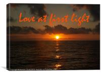 Love At First Light, Canvas Print