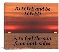 To Love And Be Loved, Canvas Print