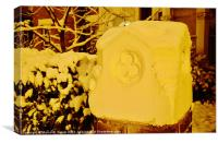 Suburban Snow at Midnight, Canvas Print