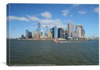 Manhattan In The Distance, Canvas Print