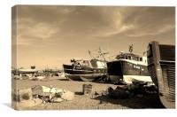 Assorted Fishing Boats, Canvas Print