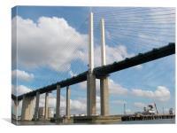 The QE2 Bridge, Canvas Print