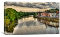 A View From Bewdley Bridge, Canvas Print