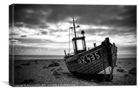 Fishing Boat at Dungeness, Kent, Canvas Print
