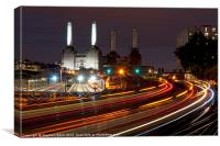 Battersea Light Trails, Canvas Print