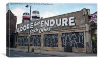 Street art in Shoreditch London, Canvas Print