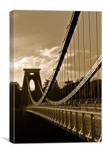 Golden Clifton Bridge, Canvas Print