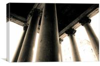 Pantheon Pillars, Canvas Print