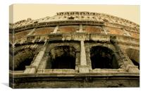 The Golden Colosseum, Canvas Print