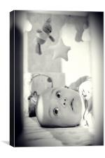 cute dreaming baby, Canvas Print