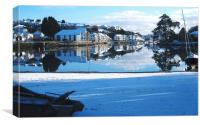 Christmas Snow in Kingsbride, Canvas Print