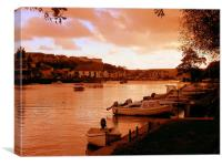 Autumn at the Quay, Canvas Print