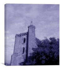 Tower of Collegiate Chantry of St Mary, Canvas Print