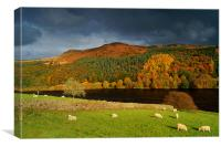 Ladybower Reservoir & Whinstone Lea Tor, Canvas Print