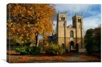 UK,Nottinghamshire,Worksop Priory, Canvas Print