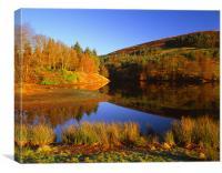 Autumn Landscape on Ladybower Reservoir, Canvas Print