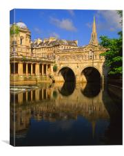 Pulteney Bridge & River Avon in Bath, Canvas Print