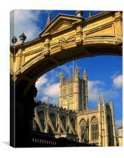 Bath Abbey & Arch, Canvas Print