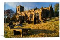 St Nicholas Church,High Bradfield, Canvas Print