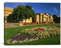 Mappin Art Gallery,Museum & Flowers,Sheffield, Canvas Print