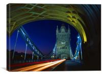 Tower Bridge London at Night, Canvas Print