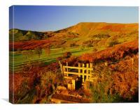 Mam Tor Autumn Landscape, Canvas Print