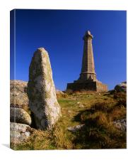 Carn Brea & Basset Memorial, Canvas Print