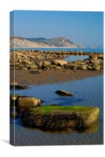 Golden Cap & Lyme Bay, Canvas Print